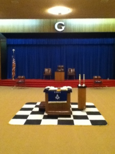 New Checkered Rug Purchased by the Brothers of Unity Lodge